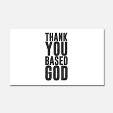 Thank You Based God Car Magnet 20 x 12
