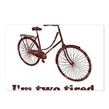 Im Two Tired Too Tired Sleepy Bicycle Postcards (P