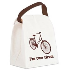 Im Two Tired Too Tired Sleepy Bicycle Canvas Lunch