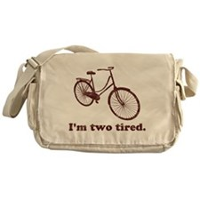 Im Two Tired Too Tired Sleepy Bicycle Messenger Ba