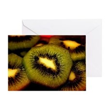 Kiwi slices Greeting Card
