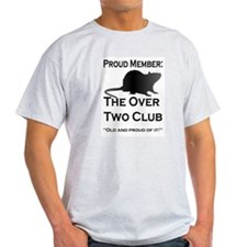 """Over-2 Club"" Ash Grey T-Shirt"