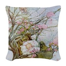 Rock-A-Bye Baby Nursery Rhyme Woven Throw Pillow