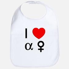 I Heart Alpha Women Bib