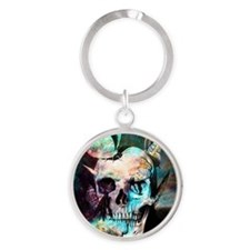 beautiful skull Round Keychain