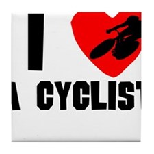 I Heart A Cyclist Tile Coaster