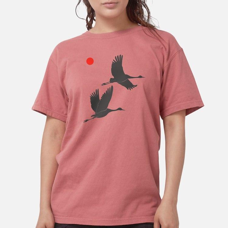 Crane Silhouette - Light Shir T-Shirt