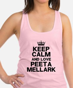 Keep Calm Love Peeta Racerback Tank Top