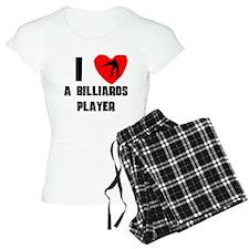 I Heart A Billiards Player pajamas