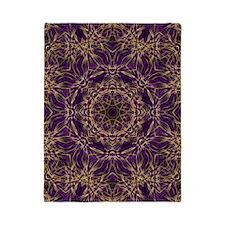 Purple Mandala Hippie Pattern Twin Duvet