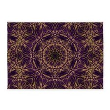 Purple Mandala Hippie Pattern 5'x7'Area Rug