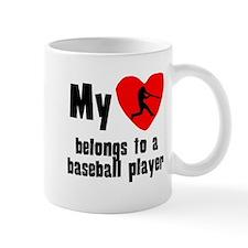 My Heart Belongs To A Baseball Player Mugs