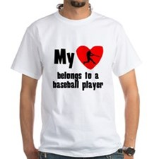 My Heart Belongs To A Baseball Player T-Shirt