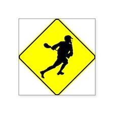 Lacrosse Player Crossing Sticker