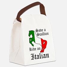 Stallion Canvas Lunch Bag