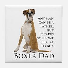 Boxer Dad Tile Coaster