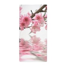Flowers Water Reflection Beach Towel