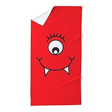 Silly Monster Face Beach Towel