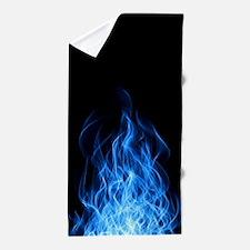 Blue Flames Beach Towel