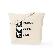 Peace Love Lax Tote Bag