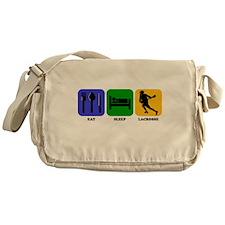 Eat Sleep Lacrosse Messenger Bag