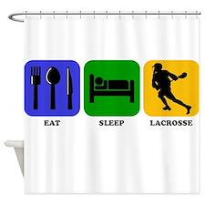 Eat Sleep Lacrosse Shower Curtain
