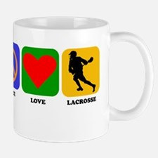 Peace Love Lacrosse Mugs