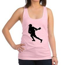 Lacrosse Player Silhouette Racerback Tank Top