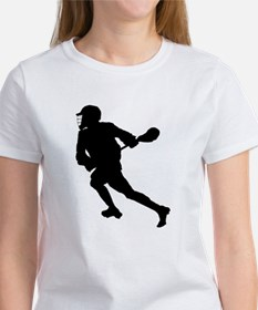 Lacrosse Player Silhouette T-Shirt