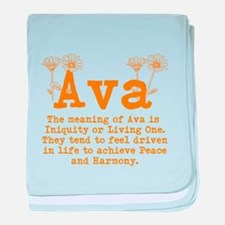 The meaning of Ava baby blanket