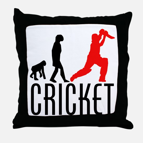 Cricket Evolution (Red) Throw Pillow