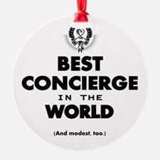 Best in the World Best Concierge Ornament