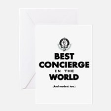 Best in the World Best Concierge Greeting Cards