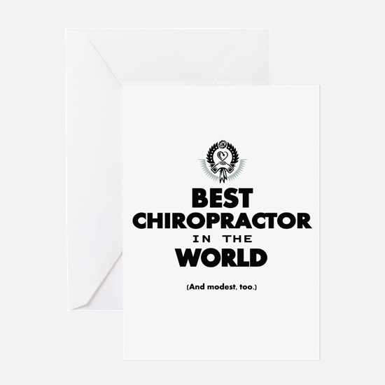Best in the World Best Chiropractor Greeting Cards