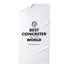 Best in the World Best Concreter Beach Towel