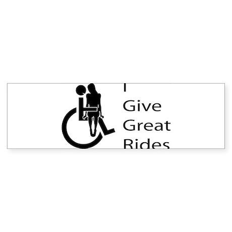 i-give-great-rides2 Bumper Sticker