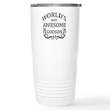 World's Most Awesome Godson Travel Mug
