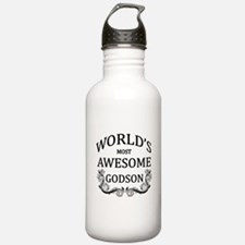 World's Most Awesome Godson Water Bottle