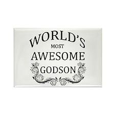 World's Most Awesome Godson Rectangle Magnet