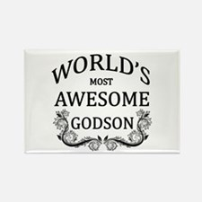 World's Most Awesome Godson Rectangle Magnet