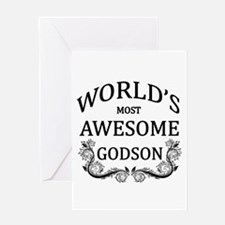 World's Most Awesome Godson Greeting Card