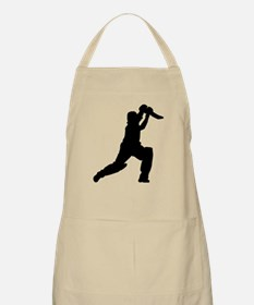 Cricket Player Silhouette Apron