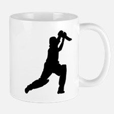Cricket Player Silhouette Mugs