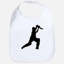 Cricket Player Silhouette Bib