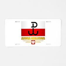 Armia Krajowa (Home Army) Aluminum License Plate
