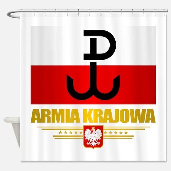Armia Krajowa (Home Army) Shower Curtain