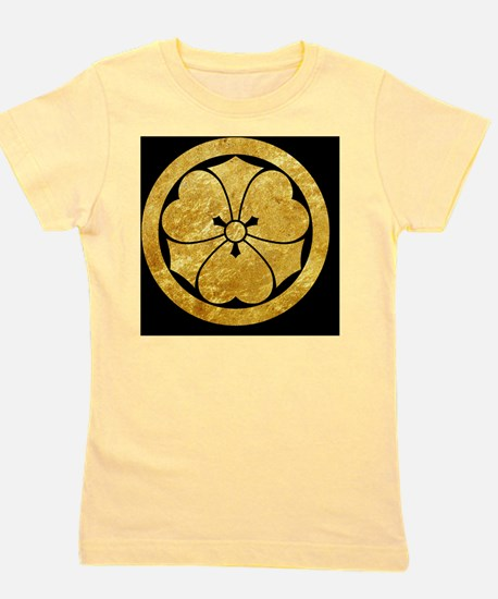 Sakai Mon gold button Girl's Tee