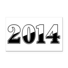2014 Rectangle Car Magnet