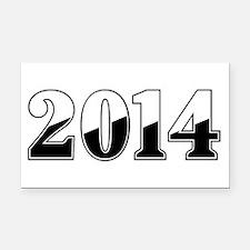 2014 Rectangle Car Magnet