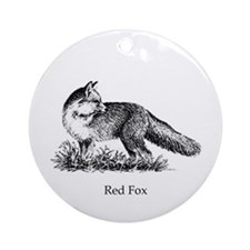 Red Fox (illustration) Ornament (Round)